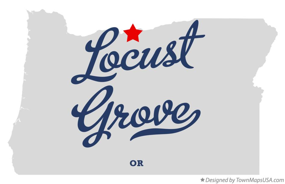Map of Locust Grove Oregon OR