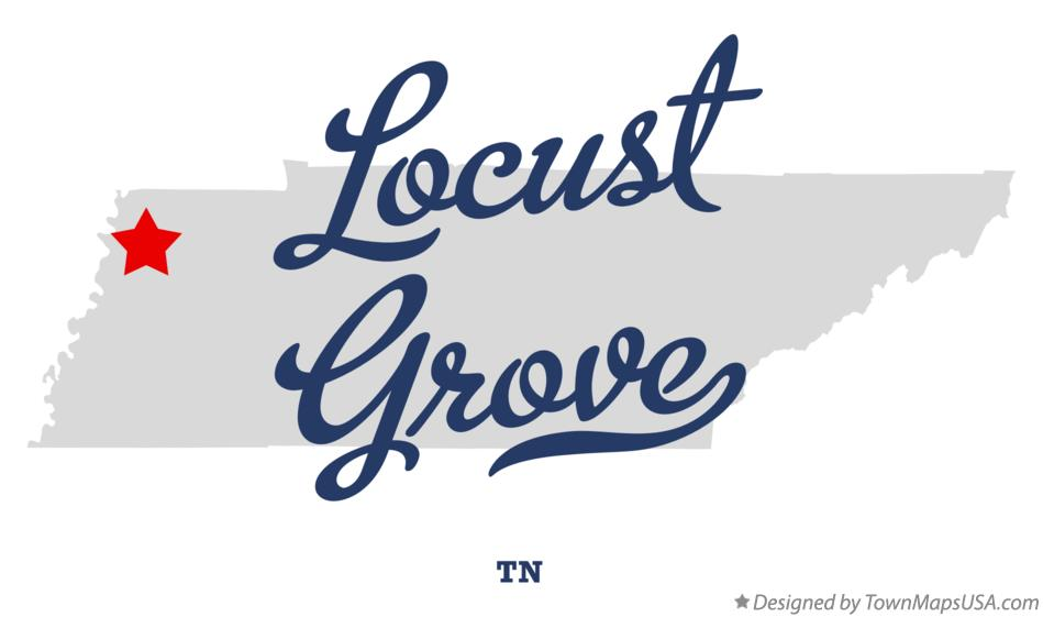 Map of Locust Grove Tennessee TN