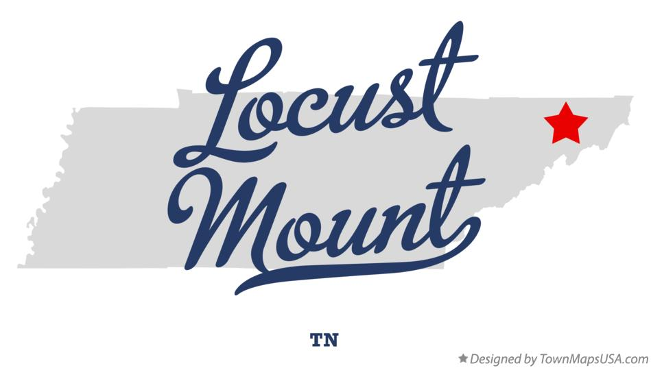 Map of Locust Mount Tennessee TN