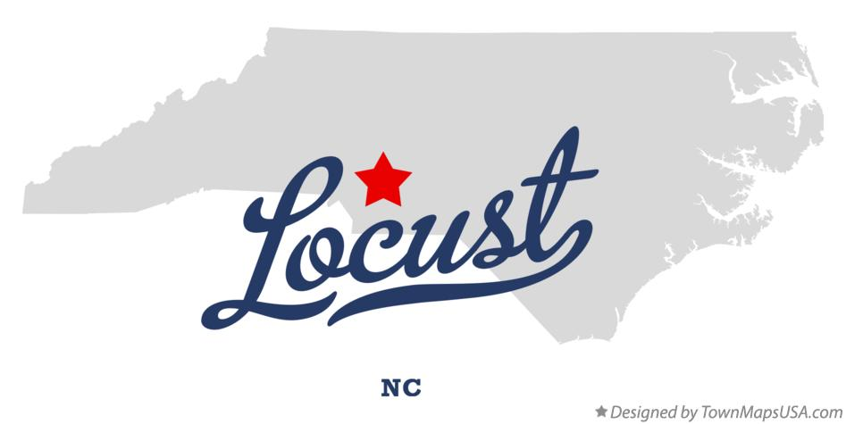 Map of Locust North Carolina NC