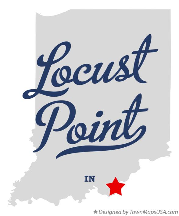 Map of Locust Point Indiana IN