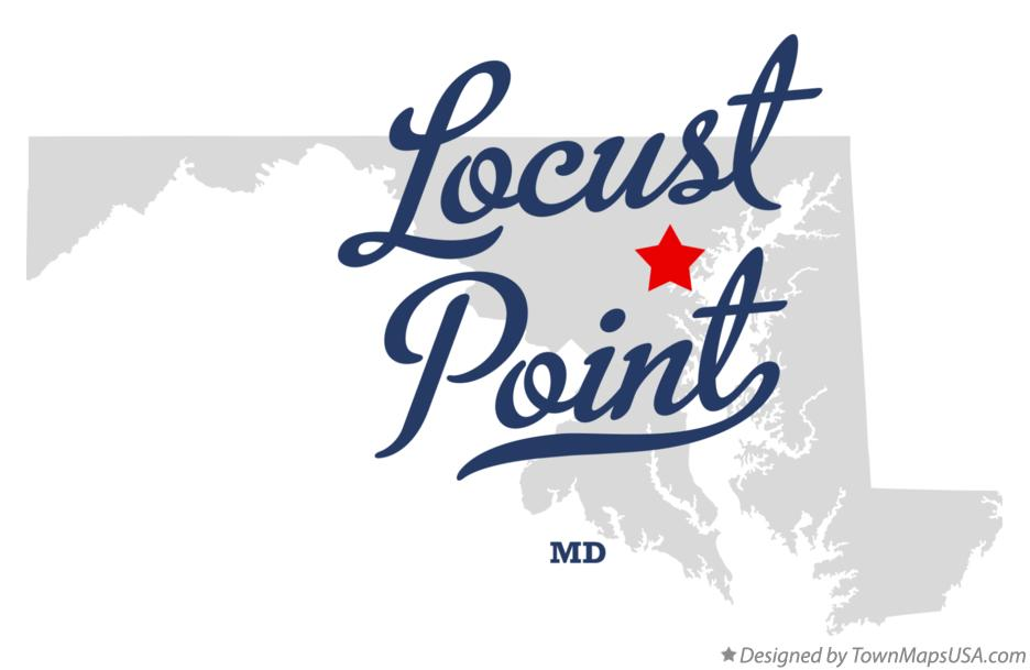 Map of Locust Point Maryland MD