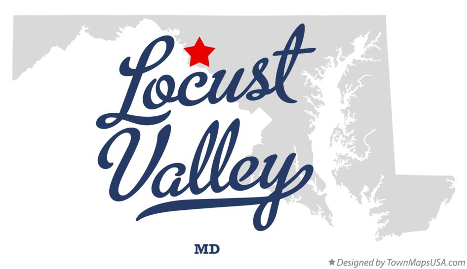 Map of Locust Valley Maryland MD