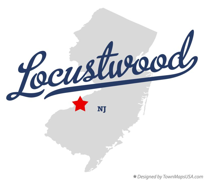 Map of Locustwood New Jersey NJ