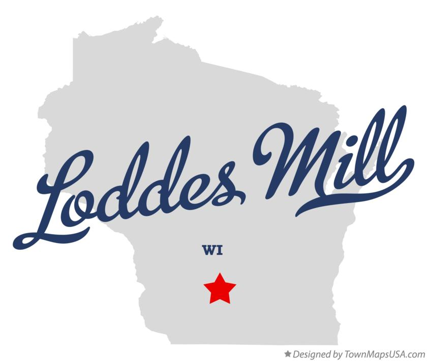 Map of Loddes Mill Wisconsin WI