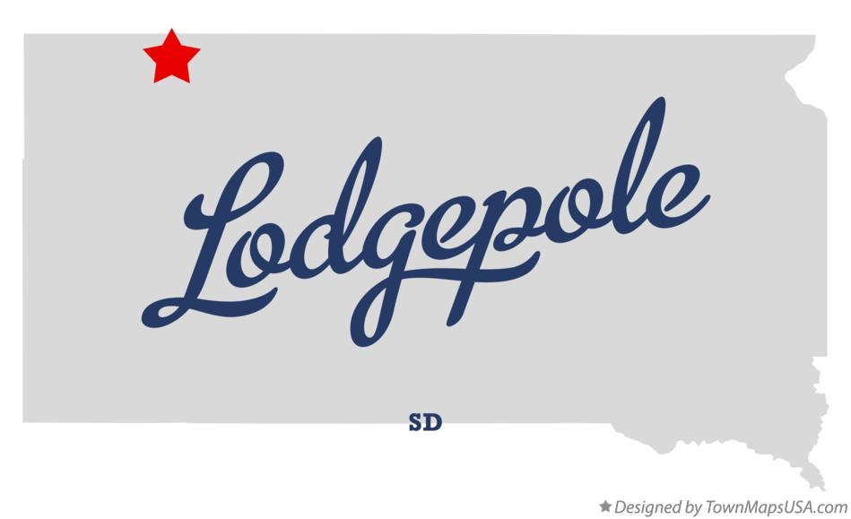 Map of Lodgepole South Dakota SD