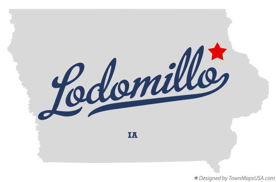 Map of Lodomillo Iowa IA