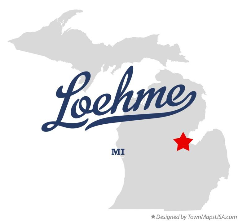 Map of Loehme Michigan MI