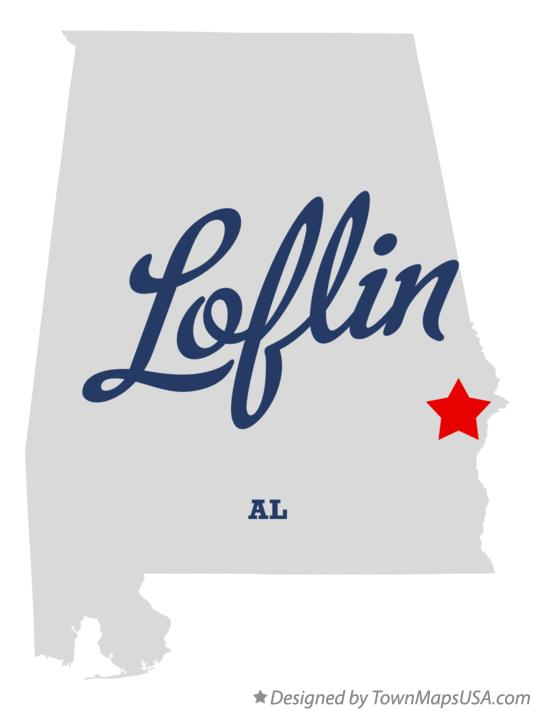 Map of Loflin Alabama AL