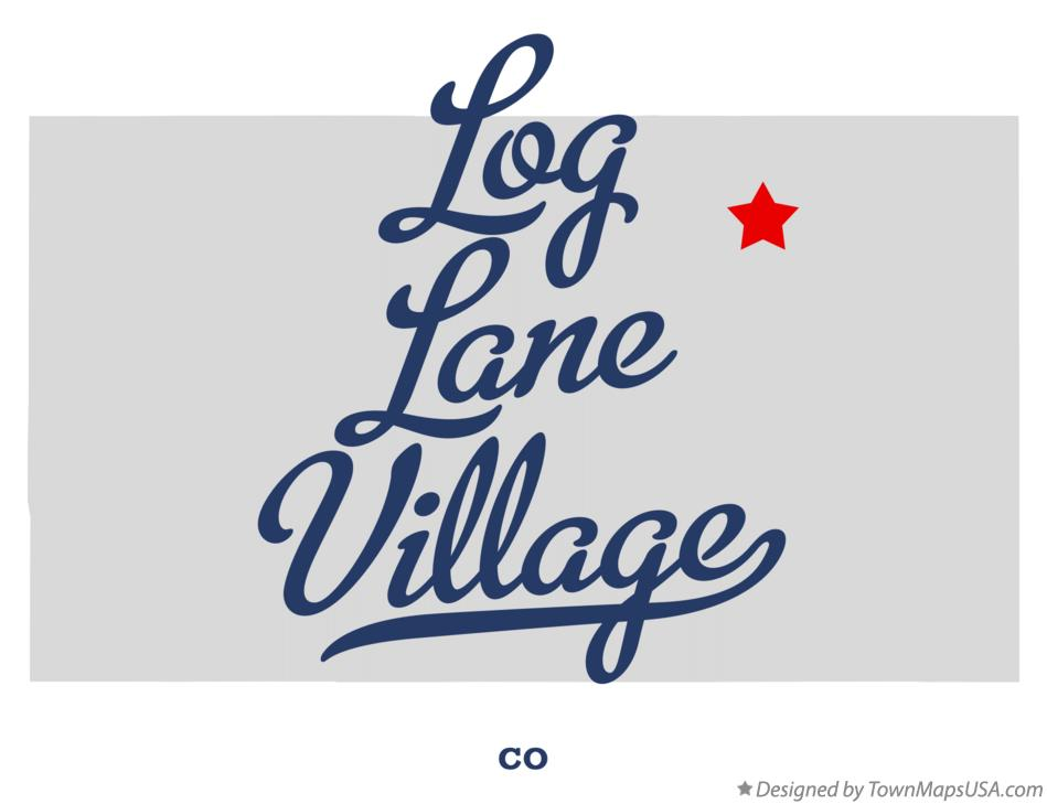 Map of Log Lane Village Colorado CO