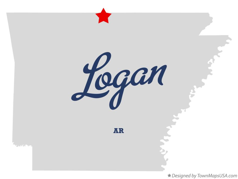 Map of Logan Arkansas AR
