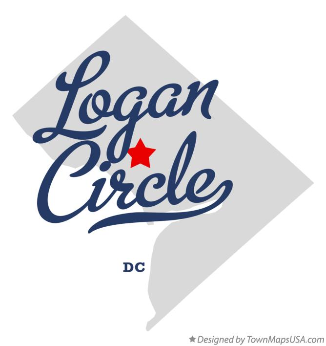 Map of Logan Circle District Of Columbia DC