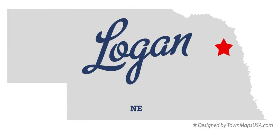 Map of Logan Nebraska NE