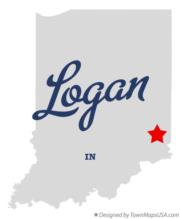 Map of Logan Indiana IN