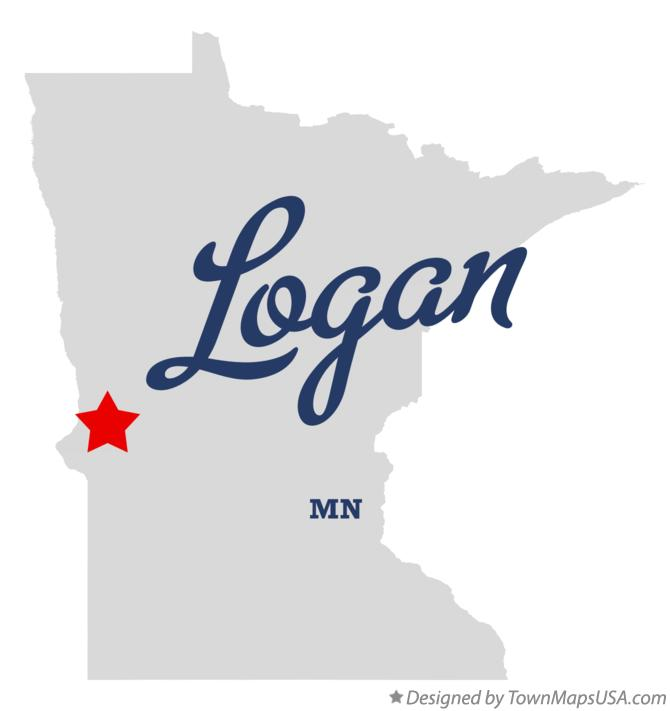 Map of Logan Minnesota MN