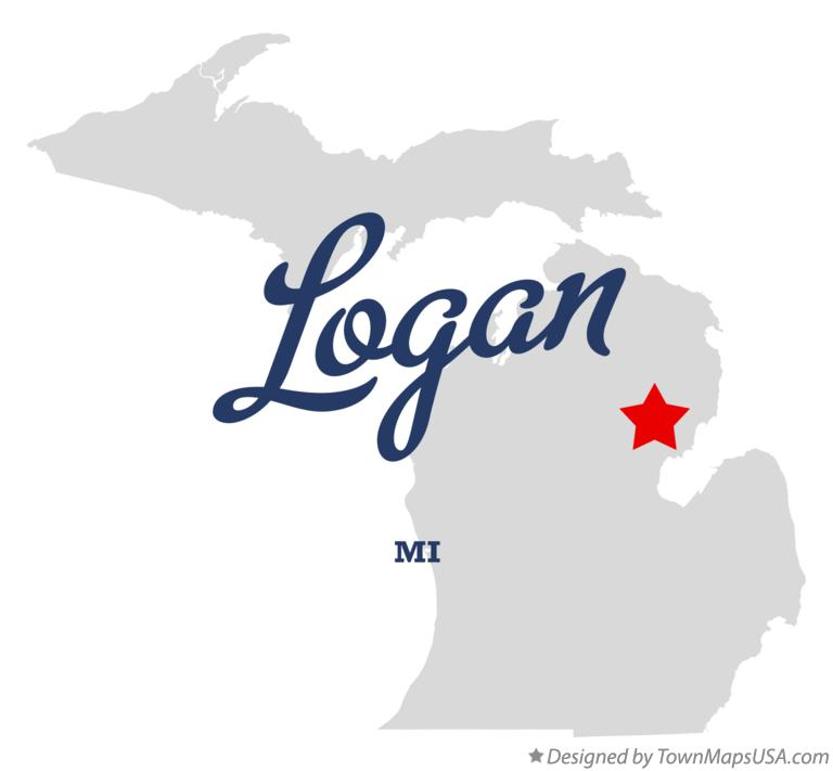 Map of Logan Michigan MI