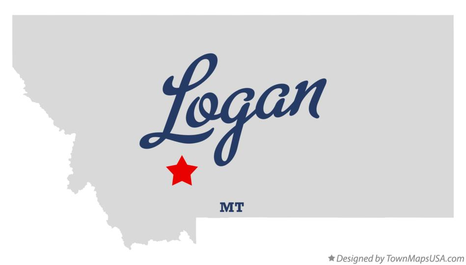 Map of Logan Montana MT