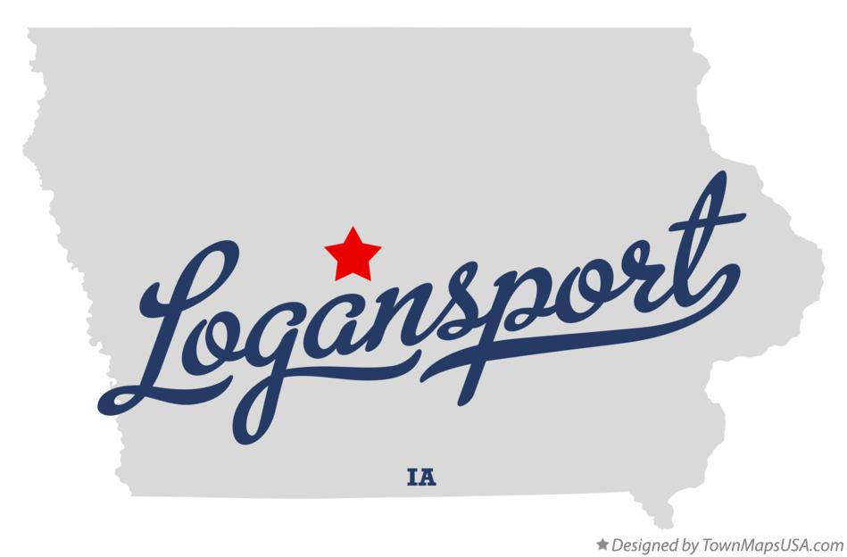 Map of Logansport Iowa IA