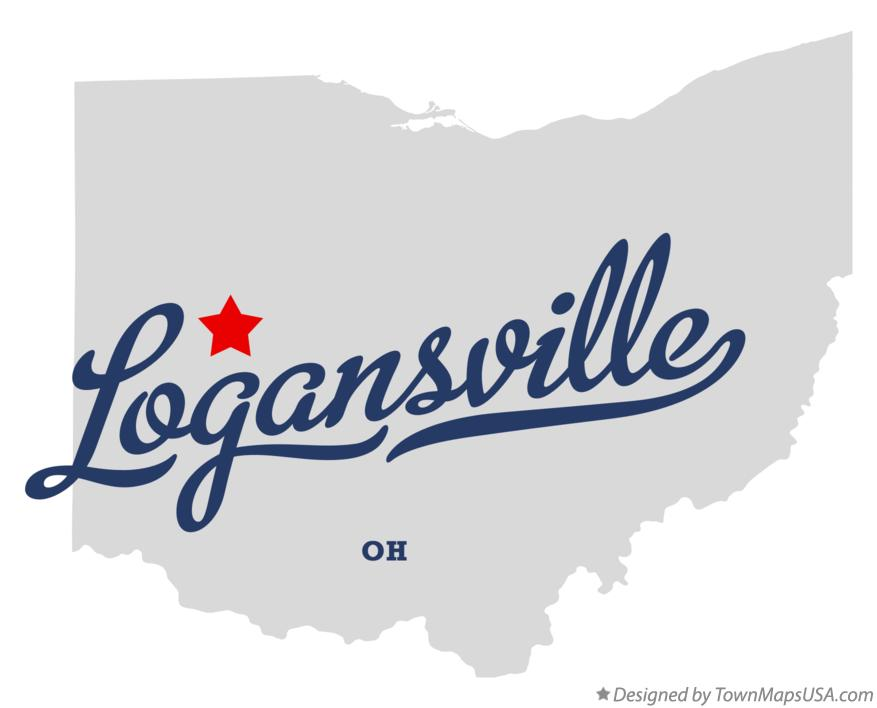 Map of Logansville Ohio OH