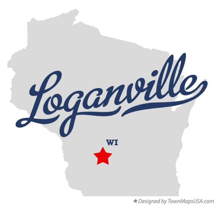Map of Loganville Wisconsin WI