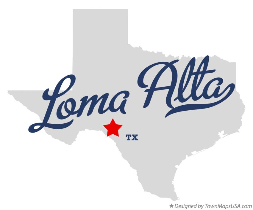 Map of Loma Alta Texas TX