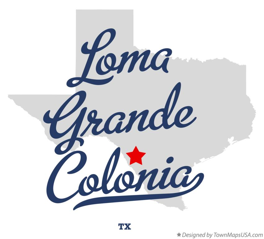 Map of Loma Grande Colonia Texas TX
