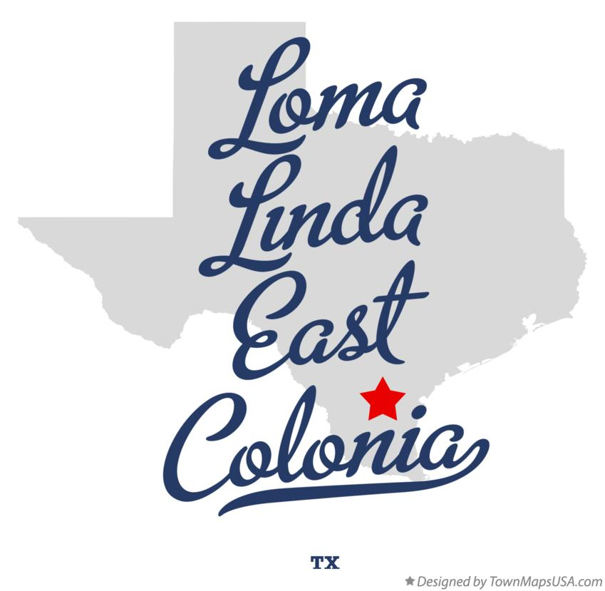 Map of Loma Linda East Colonia Texas TX