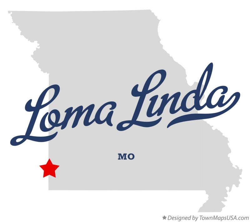 Map of Loma Linda Missouri MO