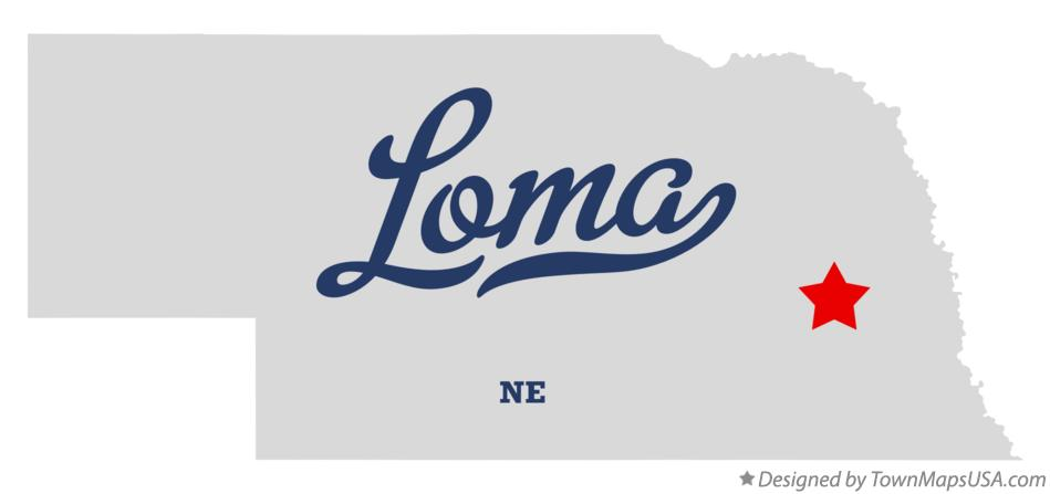 Map of Loma Nebraska NE