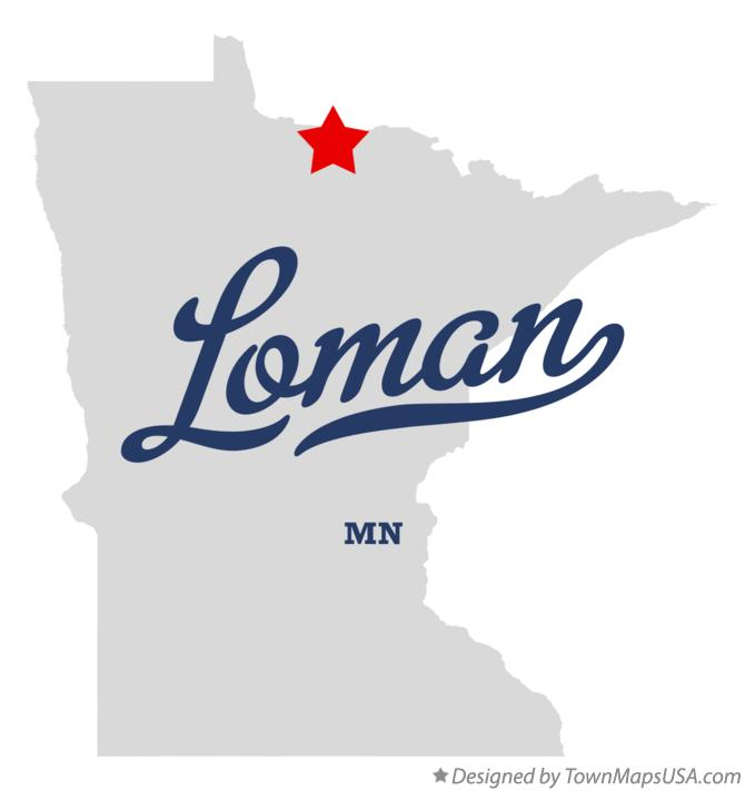 Map of Loman Minnesota MN