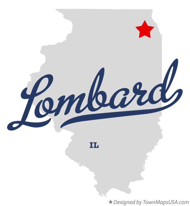 Map of Lombard Illinois IL