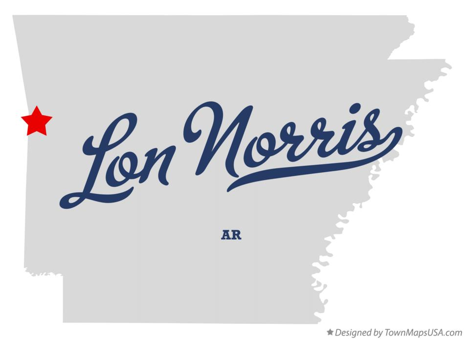 Map of Lon Norris Arkansas AR