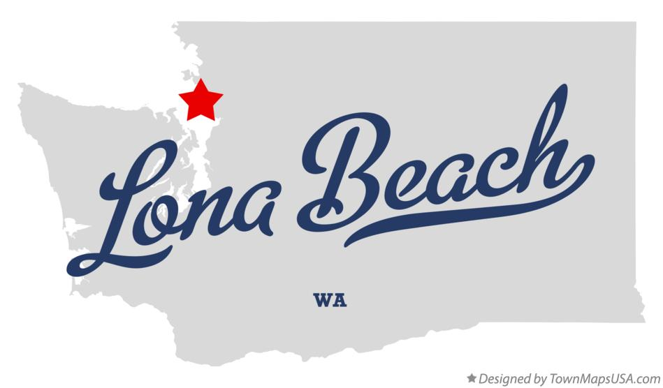 Map of Lona Beach Washington WA
