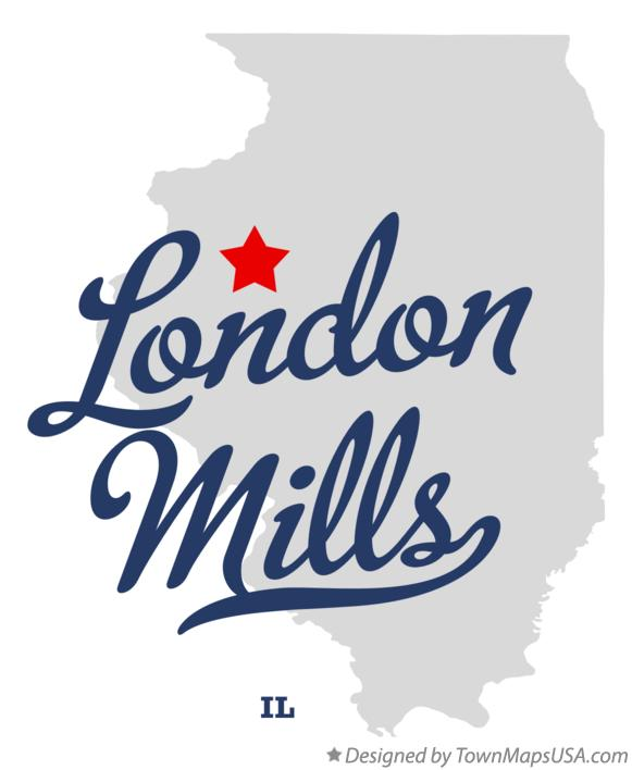 Map of London Mills Illinois IL