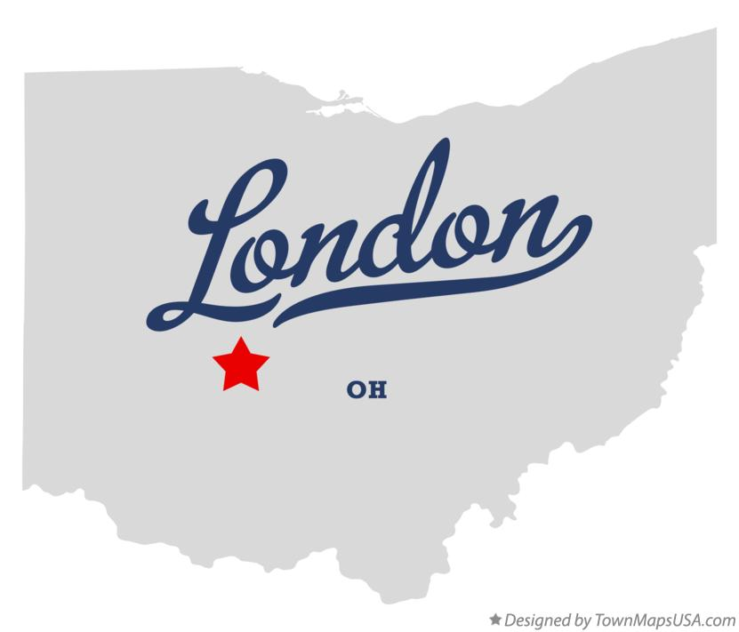 Map of London Ohio OH