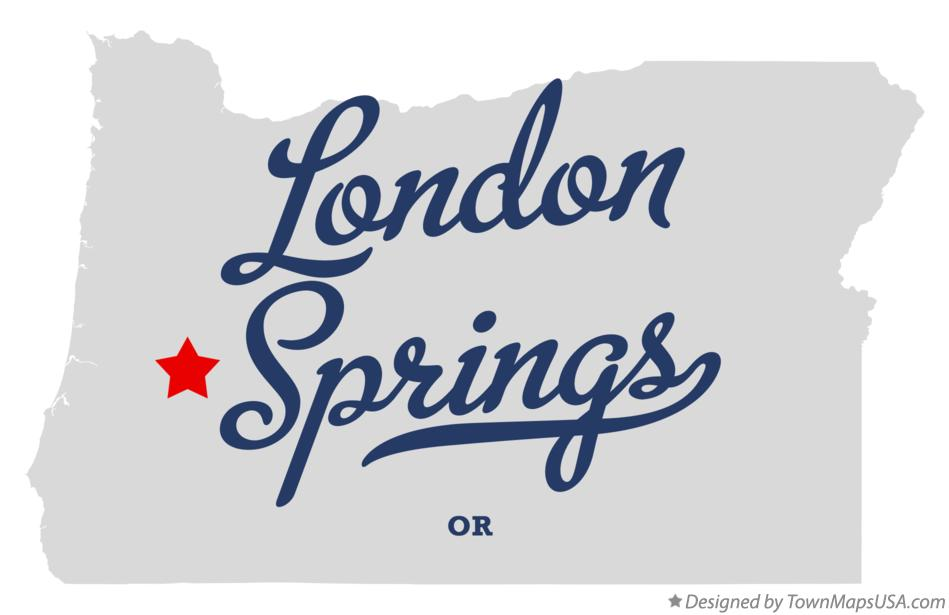 Map of London Springs Oregon OR