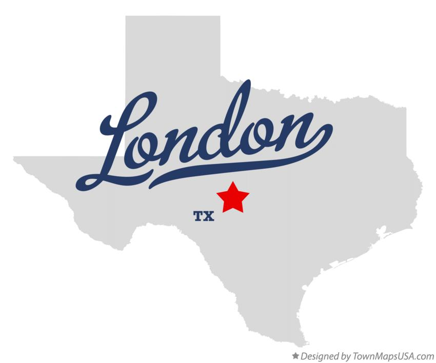 Map of London Texas TX