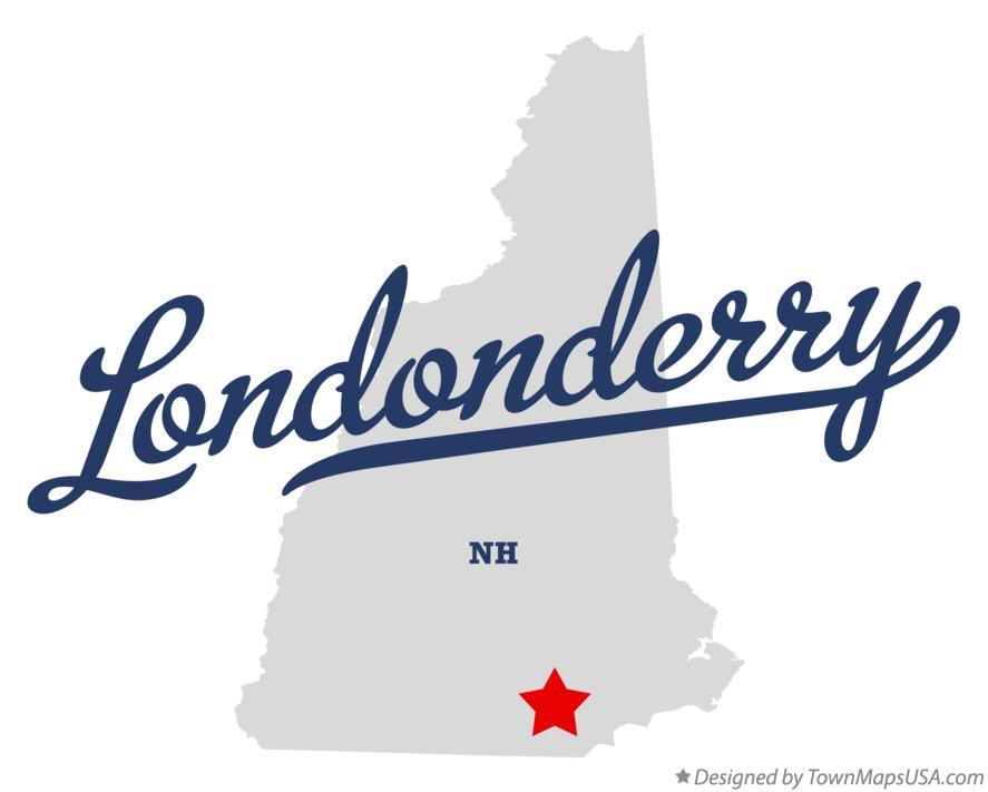 Map of Londonderry New Hampshire NH