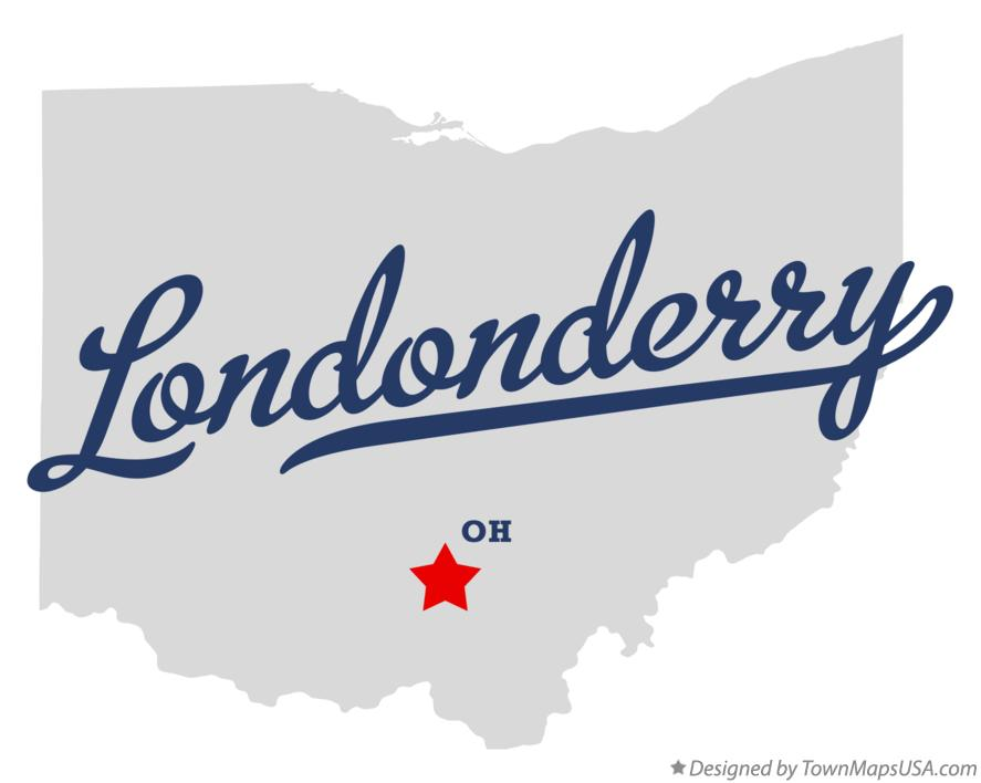 Map of Londonderry Ohio OH