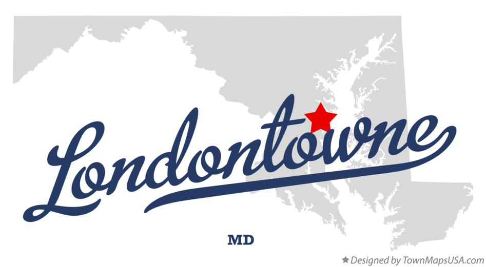 Map of Londontowne Maryland MD