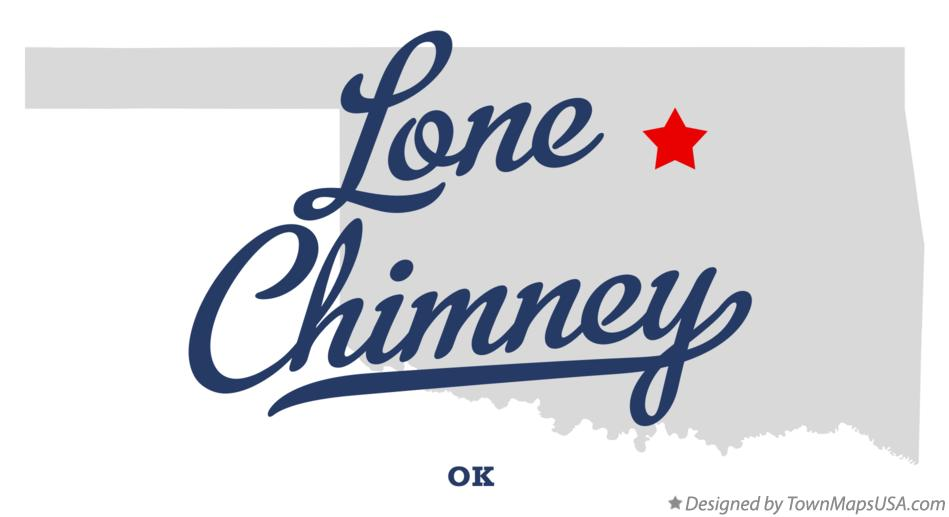 Map of Lone Chimney Oklahoma OK