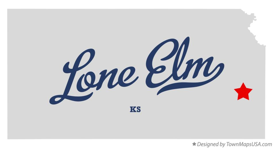 Map of Lone Elm Kansas KS