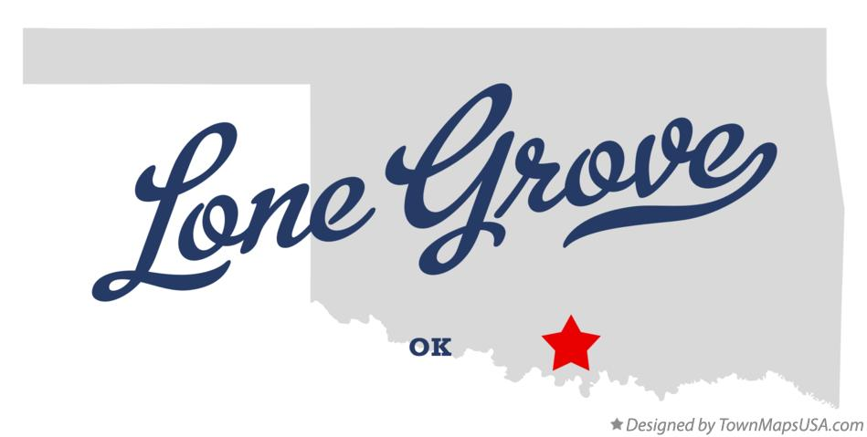 Map of Lone Grove Oklahoma OK