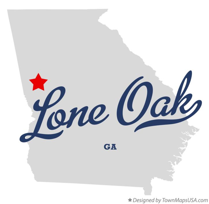 Map of Lone Oak Georgia GA