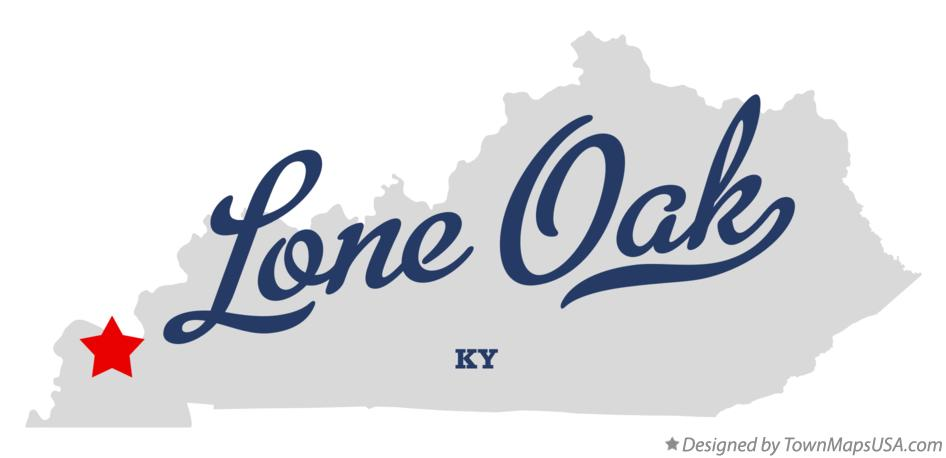 Map of Lone Oak Kentucky KY