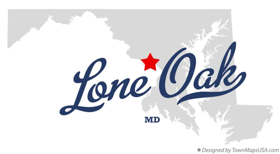 Map of Lone Oak Maryland MD