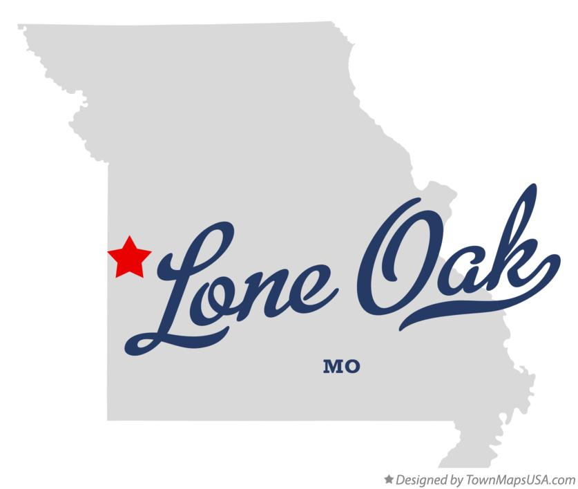 Map of Lone Oak Missouri MO