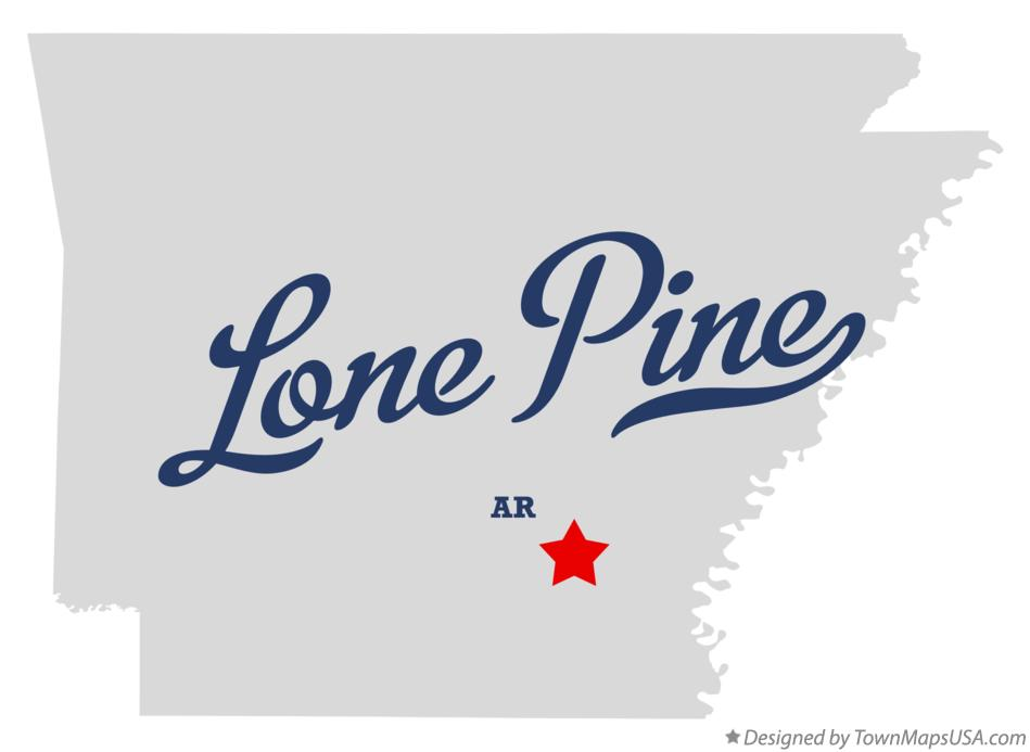 Map of Lone Pine Arkansas AR