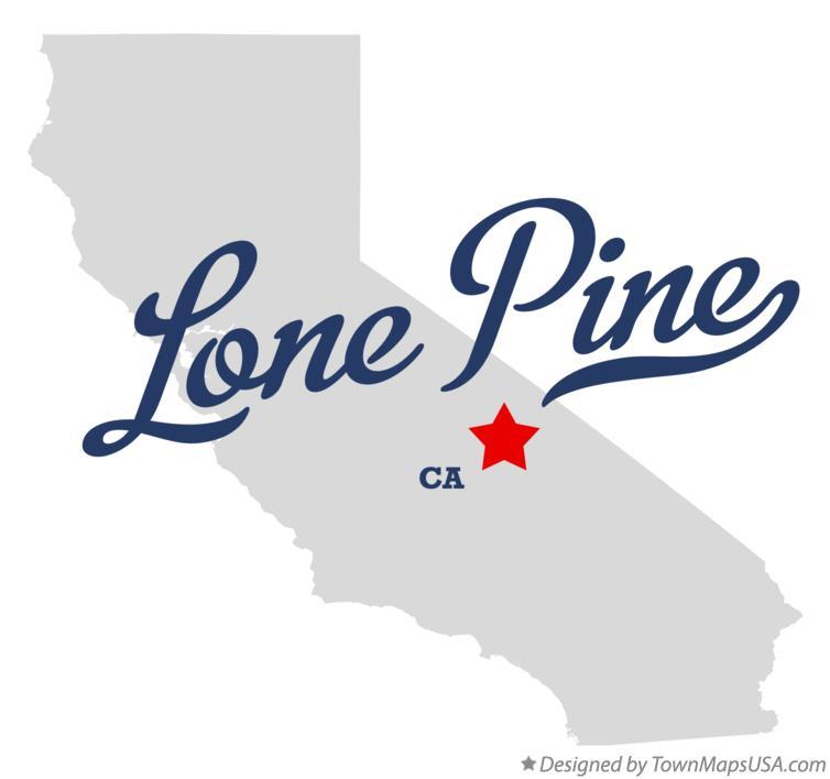 Map Of Lone Pine Ca California