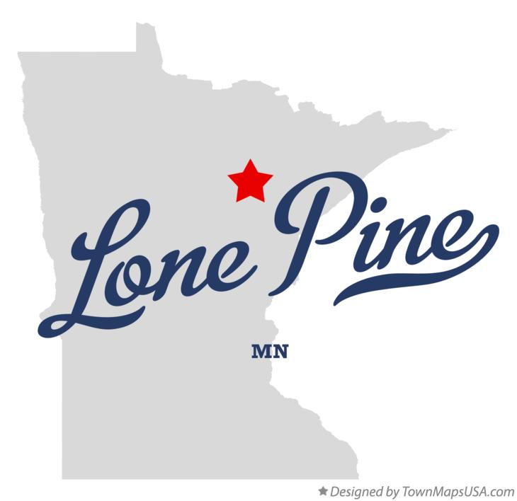 Map of Lone Pine Minnesota MN
